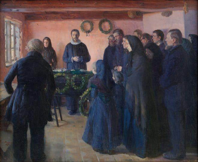 Begräbnisse in der Kunst - 8 Exemplare der Grabesdarstellung