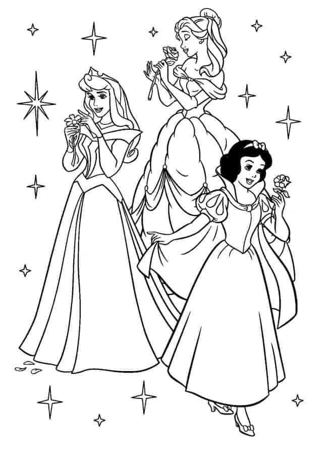 Ausmalbilder Prinzessin 654 Kostenlose Prinzessinnen 3