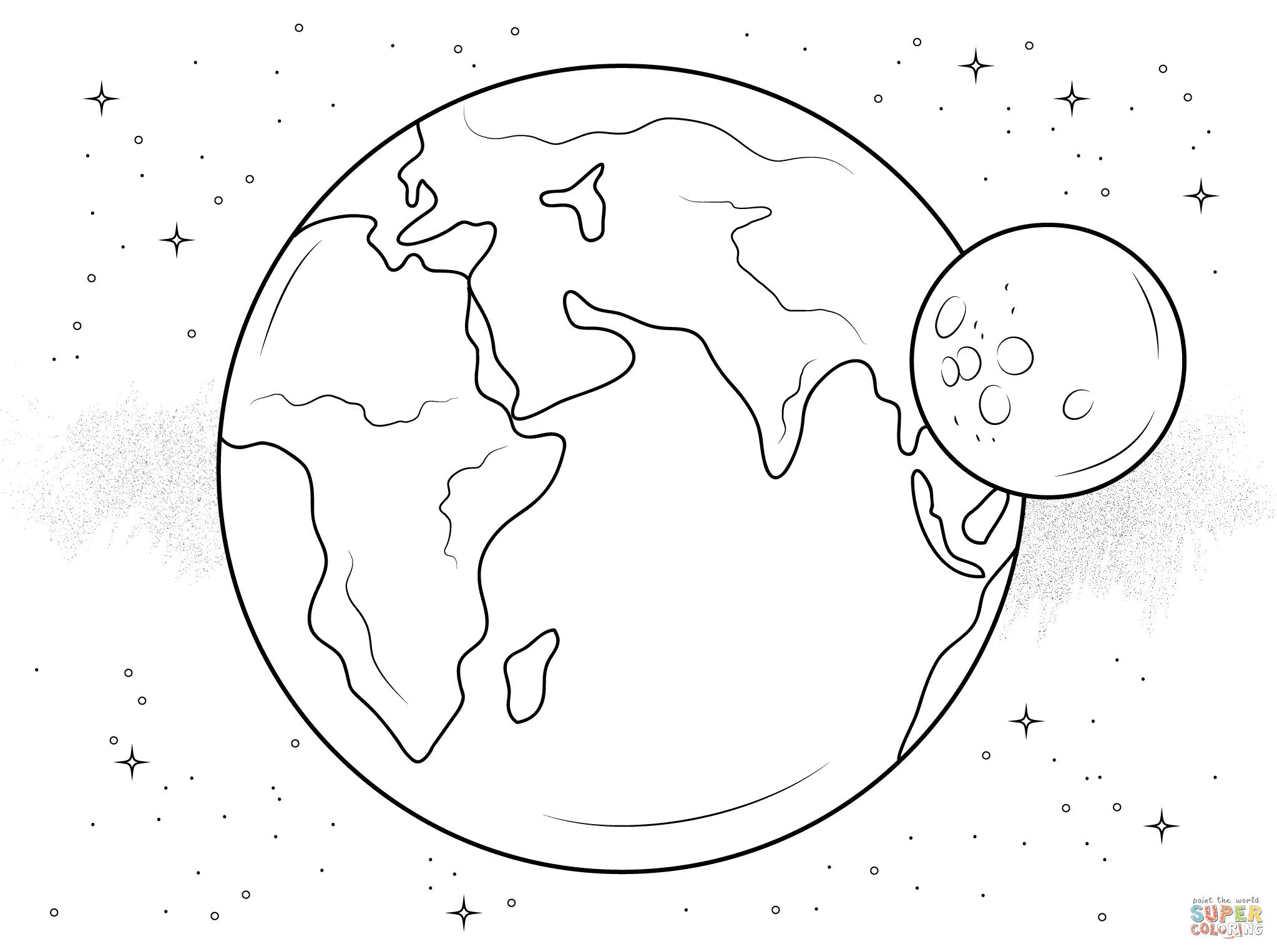 Weltraum Ausmalbilder: 30 + kostenlose Weltraum Malvorlagen